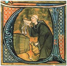wine--monk sneaking a drink